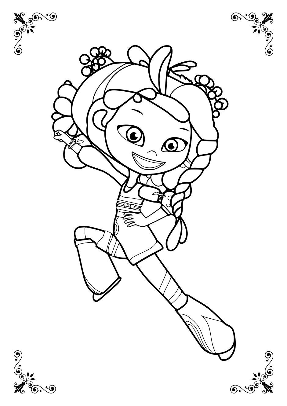 Раскраска: Аленка из сказочного патруля в танце ...