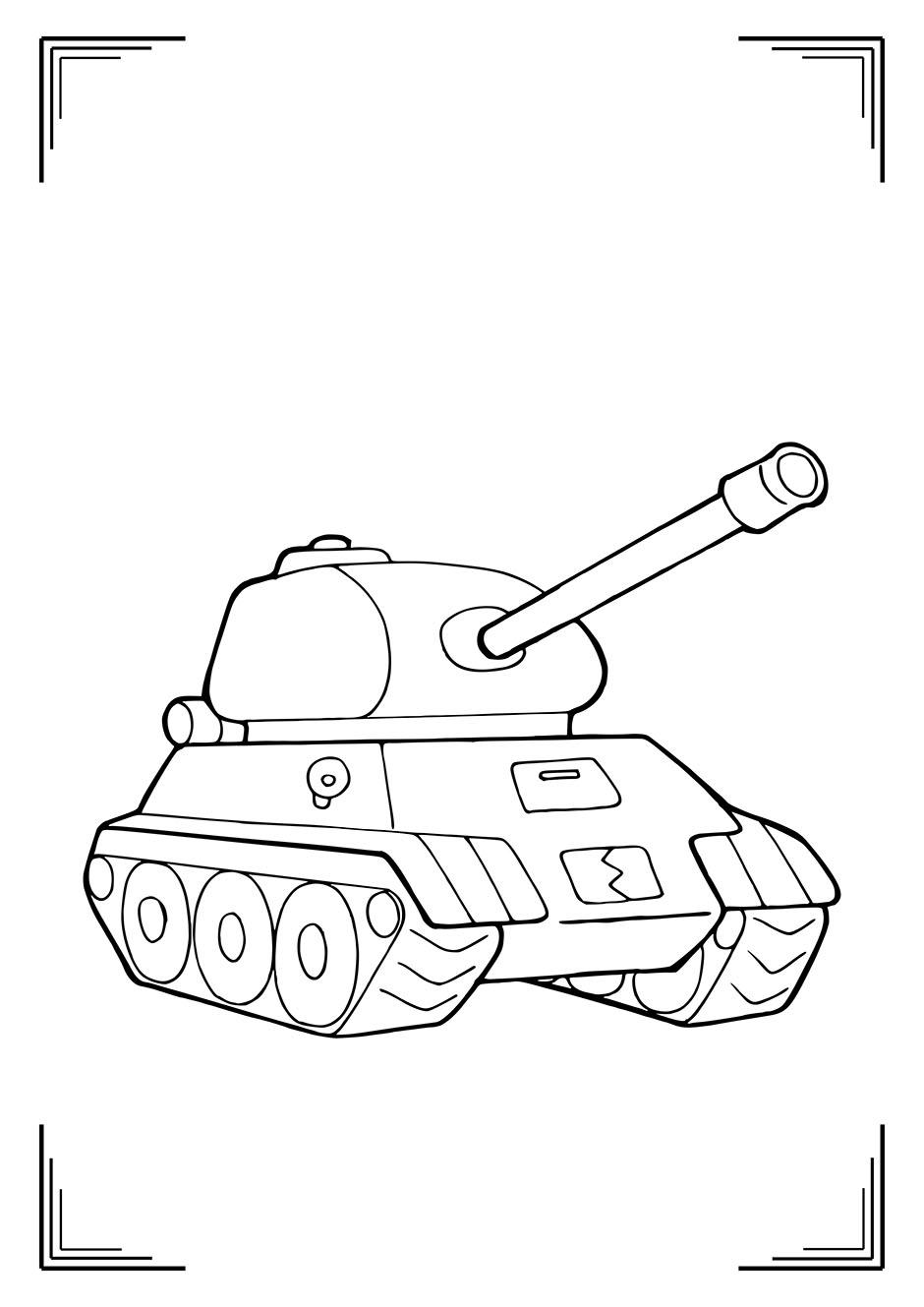 Раскраска: детский танк — raskraski-a4.ru