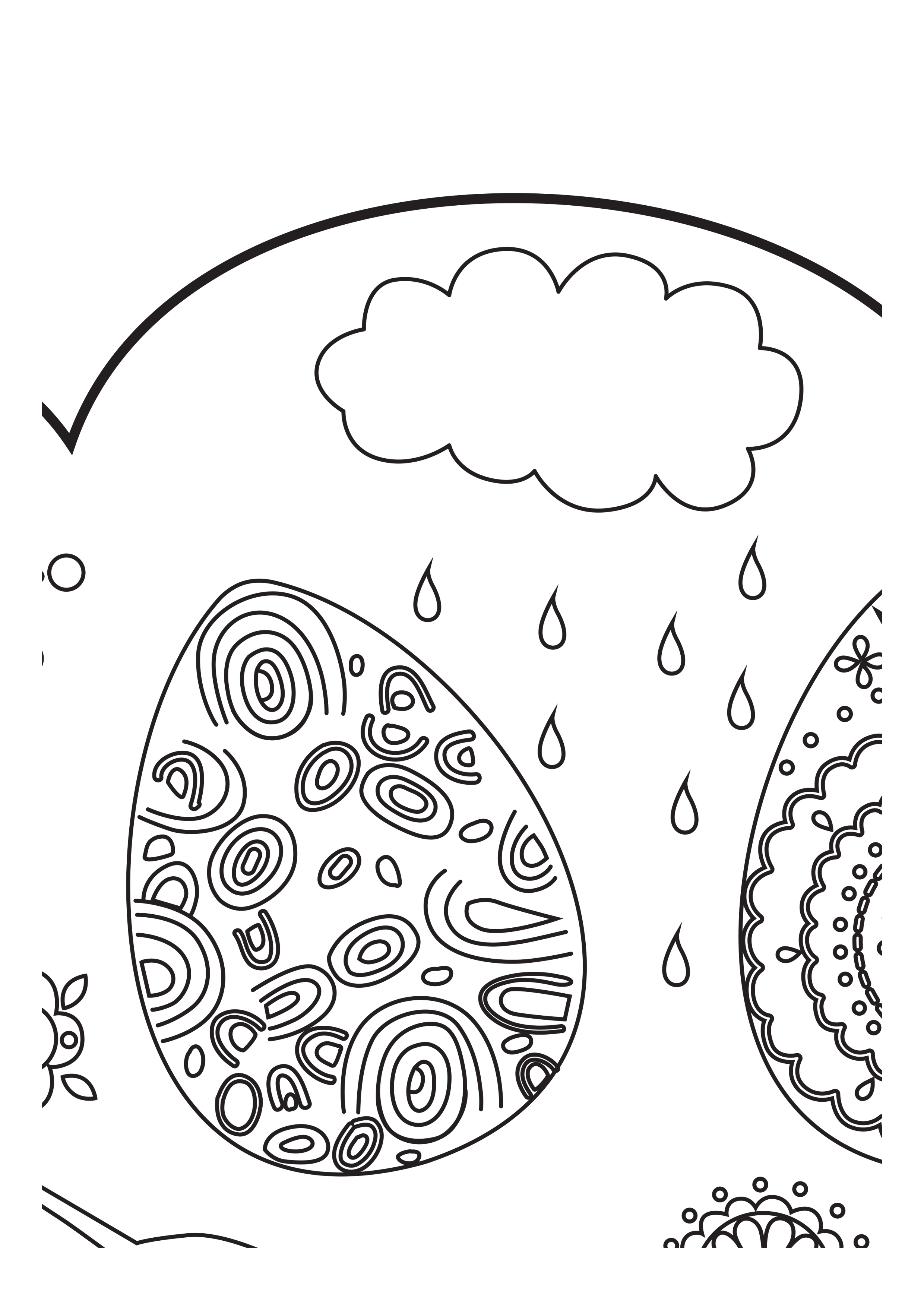 Раскраска на тему Пасхи на 15 листах — raskraski-a4.ru