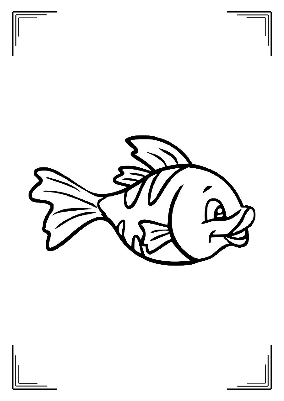 Раскраска: рыбка-девочка — raskraski-a4.ru