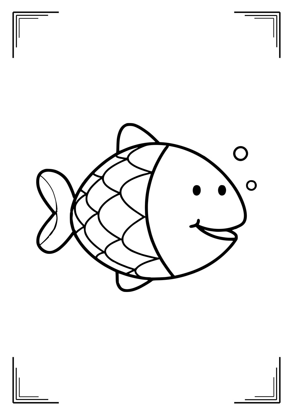 Раскраска: рыбка для самых маленьких – raskraski-a4.ru
