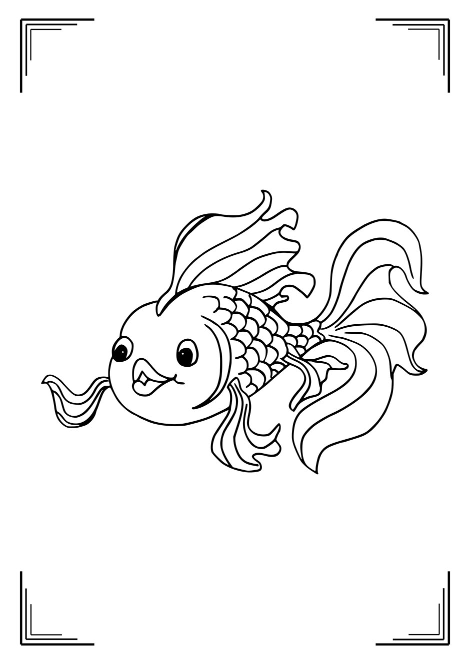 Раскраска: рыбка с большими губами — raskraski-a4.ru