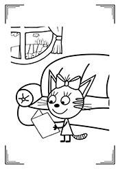 Раскраски: Три Кота (25 рисунков) — raskraski-a4.ru