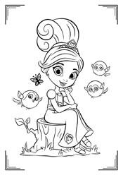 Раскраски: Нелла, отважная принцесса (20 картинок ...